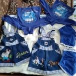 Для двойняшек джинсовые шорты-комбезы, шорты и кофточки, Новосибирск