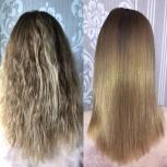 Кератиновое восстановление волос/ ботокс/ полировка /маникюр /педикюр, Новосибирск