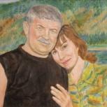 Оригинальный подарок - живописный портрет с фотографии, Новосибирск