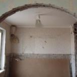 Демонтаж стен монтаж перегородок вырежу дверной проём, Новосибирск
