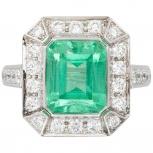 Продается красивое кольцо с изумрудом, Новосибирск