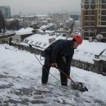 Уборка снега вручную, Новосибирск