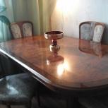 Продам 2х тумбовый стол для гостиной с 6ю стульями из гарнитура, Новосибирск