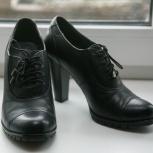 Туфли чёрные демисезонные, натруальная кожа, 39р, Новосибирск