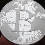 Сувенирная монета Bitcoin, Новосибирск