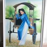 Продам картину из Вьетнама на холсте. В багете, Новосибирск