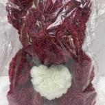 Оригинальный подарок для ДАМ - Мишка из роз!, Новосибирск