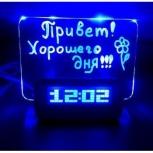 Часы-будильник с led доской, Новосибирск