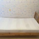 Односпальная кровать IKEA с матрасом, Новосибирск