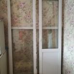 продам оконный блок на балкон,глухое 1400-1420,дверь 650-2260, Новосибирск