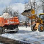 Уборка снега трактором, Новосибирск