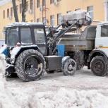 Уборка и вывоз снега. Чистка территории трактором, Новосибирск