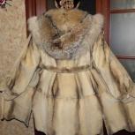 Норковая шуба c роскошным капюшоном из рыси, Новосибирск