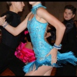 Платье для бальных спортивных танцев ю-2, молодежь, латина, Новосибирск