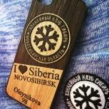ХК Сибирь чехол для телефона из натурального дерев, Новосибирск