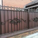 Забор и ограждения  из профнастила  с установкой под ключ, Новосибирск