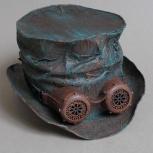 Пост апокалиптический цилиндр с очками гогглами старая медь, Новосибирск