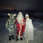 Дед Мороз,Снегурочка и Мышонок, Новосибирск