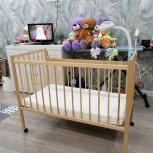 Кроватка+ортопедический матрас+мобиль+непрококаемый наматрасник, Новосибирск