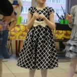 Платье в клеточку на девочку 7-8 лет, Новосибирск