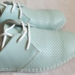 Туфли мятные, новые, натуральная кожа, р-39(38), Новосибирск