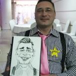 Художник - шаржист на свадьбу, юбилей, корпоратив - профессионально, Новосибирск