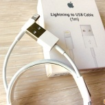 USB кабель для Apple iPhone 5, 5c, 5s, SE, 6, 6s, 6plus, 6s plus, 7, Новосибирск
