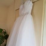Белоснежное свадебное платье новое, Новосибирск