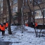 Уборка снега, Новосибирск