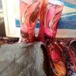 цветные резиновые розовые женские сапоги размер 36 - 232, Новосибирск