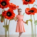 Фотозона для свадьбы и фотосессии - ростовые цветы, Новосибирск