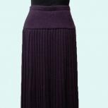 Вязаная плиссированная юбка, Новосибирск
