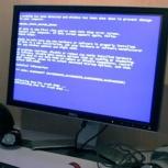 Компьютер не загружается, выдаёт чёрный экран или синий, Новосибирск