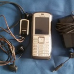 Телефон Nokia 6070, зу, гарнитура, чехол, Новосибирск