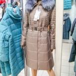 Пальто длинное 52/54р (верблюжья шерсть, нат мех), Новосибирск