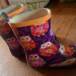 Продам резиновые б/у сапоги на девочку, размер 27, Новосибирск
