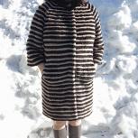 продам новое вязаное норковое пальто, Новосибирск