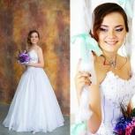 Свадебное платье нежно розово-сиреневого цвета, Новосибирск