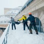 Сброс снега с крыш! Промышленные альпинисты с допусками!, Новосибирск