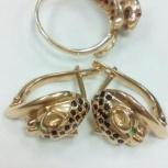 Продам золотые серьги и кольцо, Новосибирск