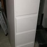 Шкаф картотечный архивный металлический на 4 ящика бу, Новосибирск