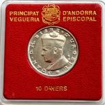 Андорра 10 динеро 1984 Серебро., Новосибирск