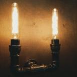 Авторские светильники из труб., Новосибирск