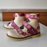 Продам ортопедические туфли на девочку, Новосибирск