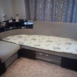 продам угловой диван раздвижной ткань велюр, Новосибирск