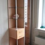 Шкаф со стеклянной дверью и полочками., Новосибирск