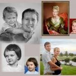 Портреты на заказ по фото. Услуги художника, Новосибирск
