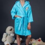 Детские махровые халаты с капюшоном, Новосибирск