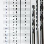 Набор сверл 1,5-5,5 мм, Новосибирск