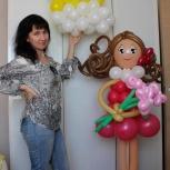 Любые фигуры из воздушных шаров, шары с гелием., Новосибирск